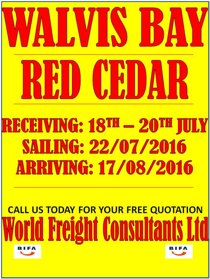 Walvis Bay - Red Cedar